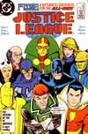 Justice League  1  VF/NM to Mint  (1987 series).   Small thumbnail graphic may/may not display actual item for sale.  Cover Scans of actual item may be available for valuable items by emailing orders1@oldmold.com.