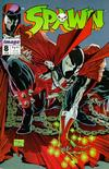 Spawn  8  VF/NM to MINT  With Frank Miller poster inside.   Small thumbnail graphic may/may not display actual item for sale.  Cover Scans of actual item may be available for valuable items by emailing orders1@oldmold.com.